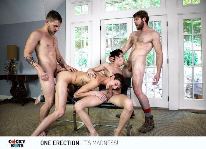 Suruba gay com Colby Keller e seus amigos 3